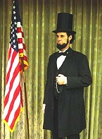 Dennis Boggs as Abe Lincoln